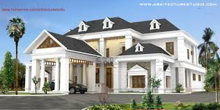 style home design kerala luxury colonial style home design