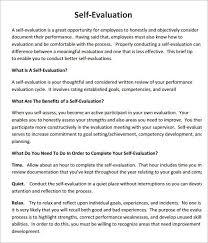 employee self assessment samples self evaluation 9free sample