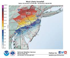 Map Of Middlesex County Nj Updated Forecast Shows Parts Of N J Getting Heavy Snow Some
