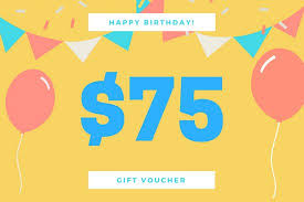 birthday gift certificate templates canva