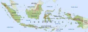 Free World Maps by Indonesia Physical Map