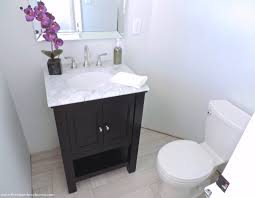 half bathroom makeover before u0026 after u2022 the chambray bunny