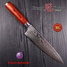 japanese folded steel kitchen knives damascus chef knife custom manufactured ebay