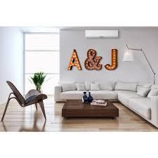 home depot wall decor trekshops modern american 24 in h rusted steel alphabet letter a