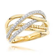 womens diamond rings luxurman right rings unique womens diamond ring 14k gold 0 45ct