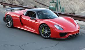 porsche 918 front rare guards red porsche 918 spyder for sale