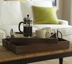 Pottery Barn Benchwright Collection by Beautiful Wood Coffee Table Tray For Home Decoration For Interior