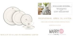 bay wedding registry wedding registry event at williams sonoma international mall