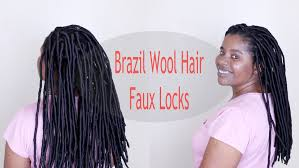 hairstyles with wool how to faux locks with brazilian wool natural sisters south