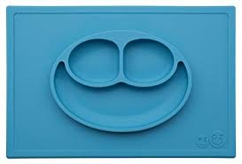 plates that stick to table amazon com ezpz happy mat one piece silicone placemat plate