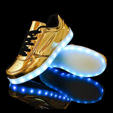 gold light up sneakers 2016 7 colors fashion casual unisex shining shoes with led laser