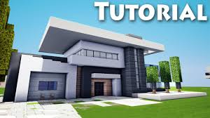 minecraft how to build cool a modern house mansion tutorial
