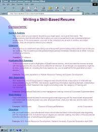 Education History Resume Writing A Skill Based Resume Name U0026 Address Objective Skill