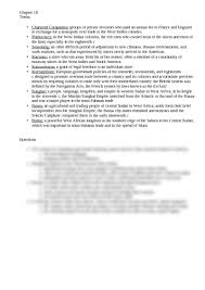 chapter 18 reading questions ap world history with yonts at