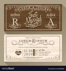 vintage wedding invites vintage wedding invitation card border and frame vector image