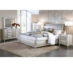 silver bed hefner silver 5 pc queen bedroom group badcock more