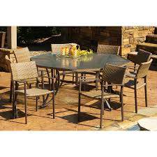 shop tortuga outdoor maracay 9 piece antique gray glass patio