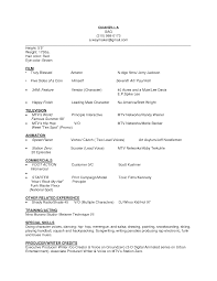 Theater Resume Template Beginner Actor Resume No Experience Nd Beginners Actors Musical