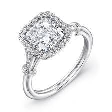 Cushion Cut Halo Diamond Engagement Ring In Platinum Uneek Cushion Cut Diamond Halo Platinum Engagement Ring