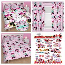 Minnie Mouse Single Duvet Set Minnie Mouse Bedroom Range Single Double Doona Cover U0026 Curtains