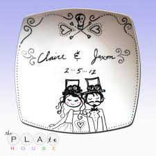 personalized wedding plate make your kids happy and smile with personalized plate