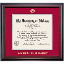 of alabama diploma frame alabama school color traditional for degree diploma frame