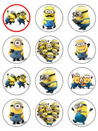 8 images minion cupcake toppers free printable minion