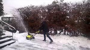 ryobi 36v snow thrower youtube