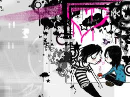 dark love pair wallpapers photo collection emo couple wallpapers to