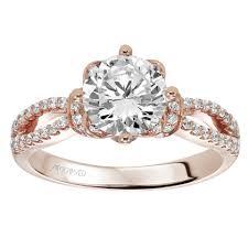 artcarved bridal 31 v337err phoebe 14k gold diamond engagement ring by