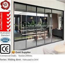 patio door glass inserts 4 panel aluminum double glazing door sliding glass door with