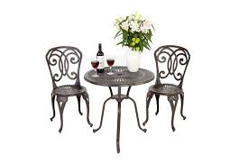 Outdoor Bistro Chairs Outdoor Cast Iron Aluminium Bistro Table Chair Setting Thomas