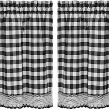 Kitchen Tier Curtains Sweet Home Collection Buffalo Check Kitchen Tier Curtain U0026 Reviews