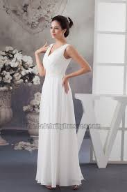 simple knee length wedding dresses simple a line floor length chiffon v neck wedding dress