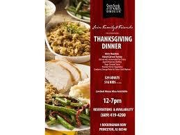 thanksgiving dinner at salt creek grille in princeton princeton