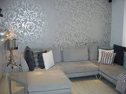 Funky Living Room Wallpaper - a pop of silver to give the room a little style weir u0027s