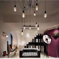 Wohnzimmer Lampe E27 Großhandel Vintage Spinne Lampenfassung Decke Kronleuchter Retro