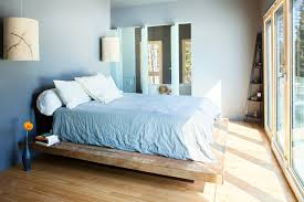 Floating Platform Bed Floating Platform Bed Bedroom Contemporary With Blue Ceiling Light