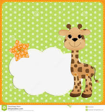 cute template for postcard with giraffe stock vector image 26126538