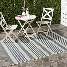 Outdoor Blue Rug Safavieh Courtyard Collection Cy6062 233 Beige And