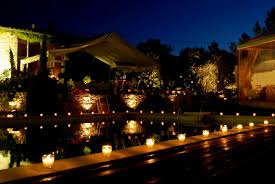 candle lit flower pool decorations party decorating of party