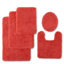 Coral Bathroom Rug Decorating Jcp Home Collection Jcpenney Ultra Soft Dri