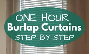 Burlap Drapery One Afternoon Project Easy Diy Burlap Curtains U2022 Our Home Made Easy