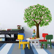 Tree Decals For Walls Nursery by Large Nursery Tree Wall Blossom Leaf Decal Fruit Season Apple