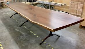 Raw Edge Table by Giant Black Walnut Live Edge Dining Table Bjorling Grant