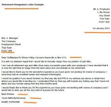 retirement resignation letter example toresign com