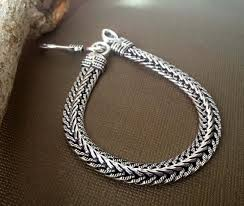 silver rope chain bracelet images Men 39 s silver rope chain bracelet men silver bracelet etsy jpg