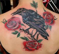 adam sky tattoos san francisco raven and roses tattoo by adam
