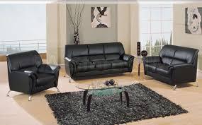 878 00 2 pc black vinyl sofa set sofa and loveseat sofa sets