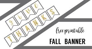 thanksgiving banner free printable paper trail design